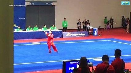 Agatha Wong's gold winning performance for Women's Taijijian