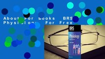 About For Books  BRS Physiology  For Free