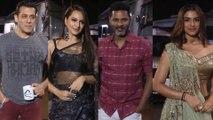 Salman Khan, Sonakshi Sinha, Saiee Manjrekar & others arrive on the sets of The Kapil Sharma Show for promoting Dabanng 3