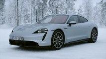 The new Porsche Taycan 4S Design in Dolomite Silver