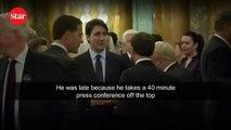 Liderler Trump hakkında konuşurken yakalandı!; O anlar zirveye damga vurdu