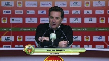La réaction de Christophe Pelissier après Orléans - FC Lorient (0-4) 19-20