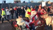 Santa and Aviemore reindeer visit Denny