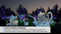 "Chinese lantern festival offers """"island of peace"""" in Chile amid protests"