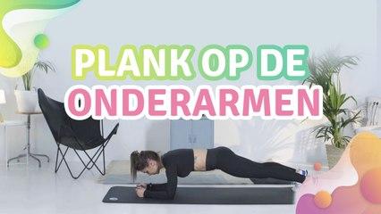 plank op de onderarmen - Gezonder leven