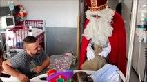 Saint-Nicolas rend visite aux enfants du CHRH