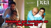 Abhishek get nostalgic as 'Paa' turns 10