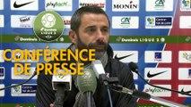Conférence de presse Châteauroux - FC Sochaux-Montbéliard (1-1) : Nicolas USAI (LBC) - Omar DAF (FCSM) - 2019/2020