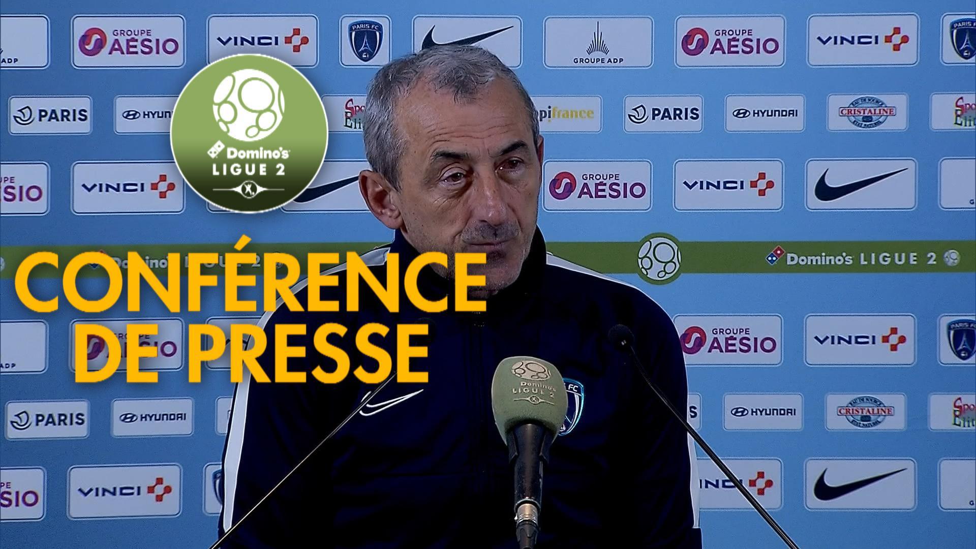 Conférence de presse Paris FC - EA Guingamp (0-3) : Mecha BAZDAREVIC (PFC) -  (EAG) - 2019/2020
