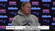 Bill Belichick Shrugs Off Question About Patriots' Running Game