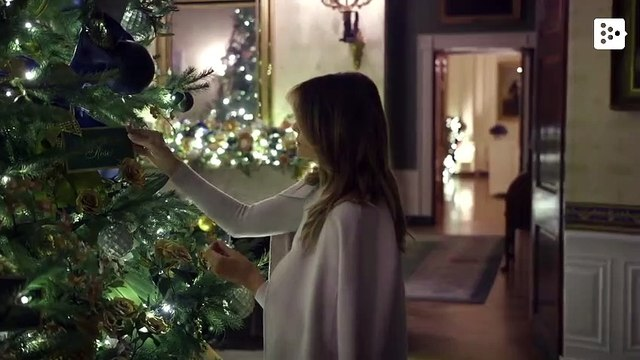 The White House shows off its Christmas decoration