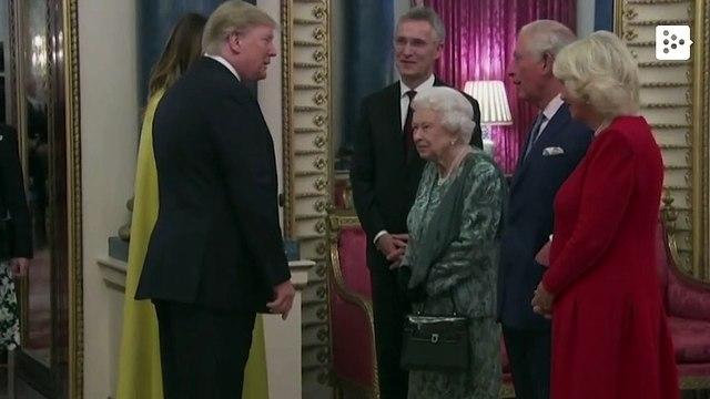 Queen Elizabeth of England recieves Donald and Melania Trump