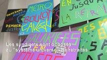 Slogans, pancartes et banderoles : les militants s'activent à la veille de la grève