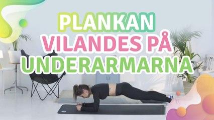 Plankan vilandes på underarmarna -  Steg för Hälsa