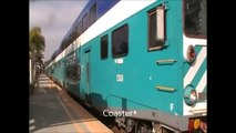 Railfanning Poinsettia Station- First RAINY night of BNSF & Amtrak action 12-29-09