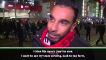 United fans willing to give Solskjaer time