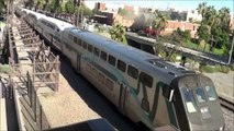 Railfanning Poinsettia Station- Early BNSF, Amtrak & Coaster action 1-12-10