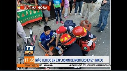 Menor herido por explosión de mortero en Z.1 Mixco