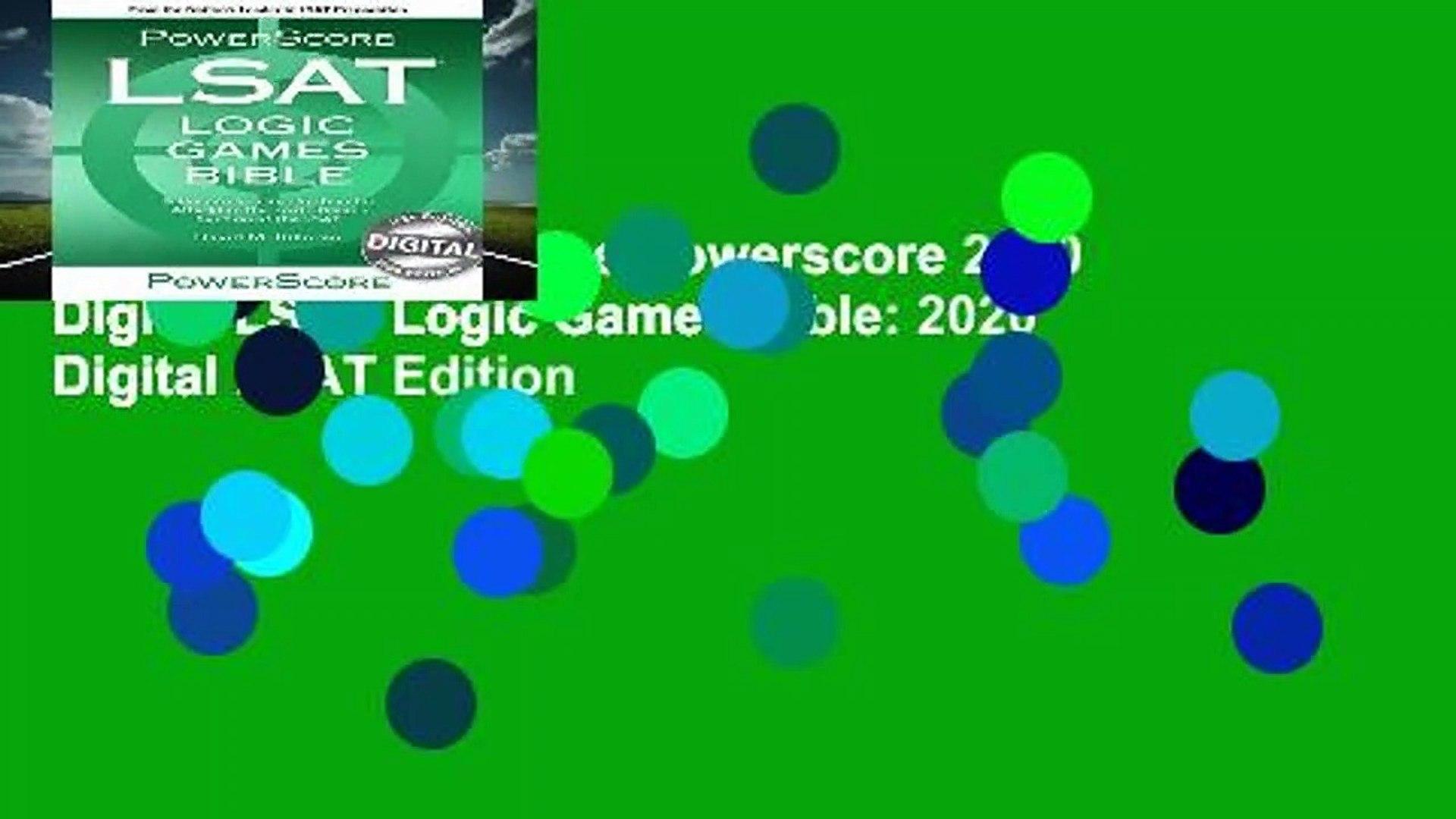 About For Books  The Powerscore 2020 Digital LSAT Logic Games Bible: 2020 Digital LSAT Edition