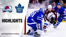 NHL Highlights | Avalanche @ Maple Leafs 12/04/19