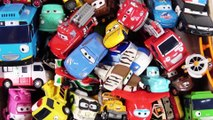 Box of Toys McQueen Cars and Tayo Bus Slide Play