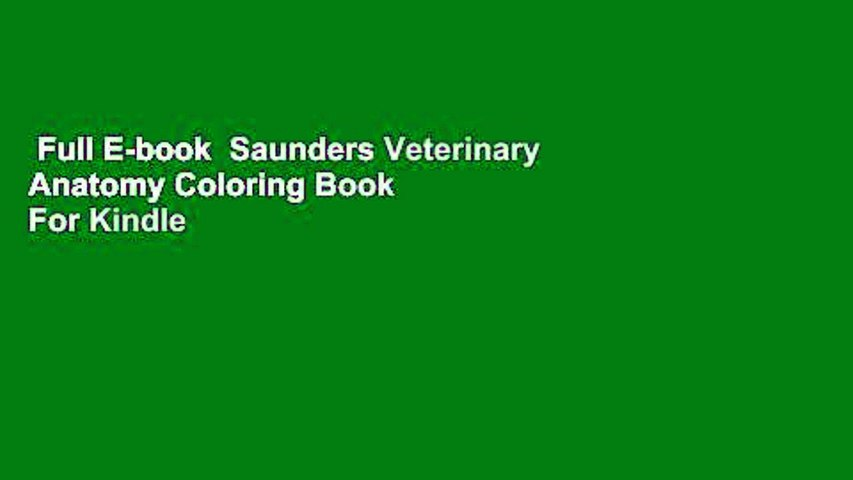 Full E-book Saunders Veterinary Anatomy Coloring Book For Kindle - Video  Dailymotion
