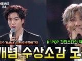 '2019 MAMA' 방탄소년단(BTS), 개념 수상소감 모음 'K-POP 간판스타의 책임감'