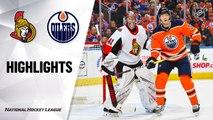 NHL Highlights | Senators @ Oilers 12/04/19