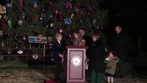 Nancy Pelosi lights up Capitol Christmas Tree
