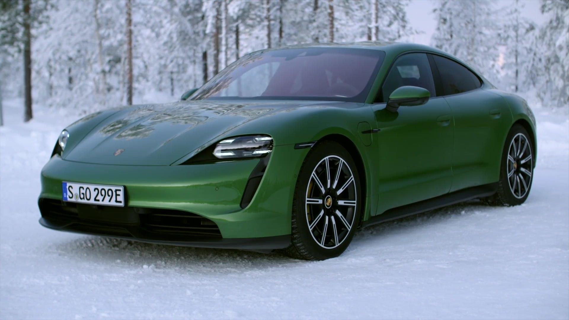 Porsche Taycan 4s Design In Mamba Green Video Dailymotion