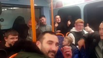 Christmas karaoke on Leyland bus