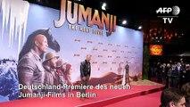 Dwayne Johnson und Kevin Hart kabbeln sich bei Jumanji-Premiere