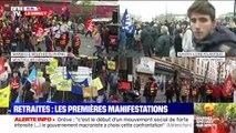 Retraites: les premières manifestations (1/3) - 05/12