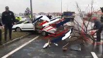 Kütahya'daki  kazada acı tesadüf!  İşçi baba her şeyden habersiz temizlik yaptı