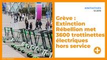 Grève : Extinction Rébellion met 3600 trottinettes électriques hors service