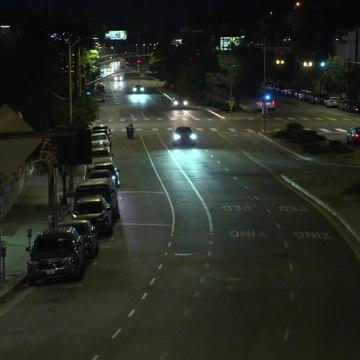 Audi e-tron Sportback night driving in Los Angeles