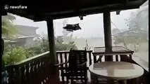Typhoon Kammuri leaves path of destruction as strong winds batter the Philippines
