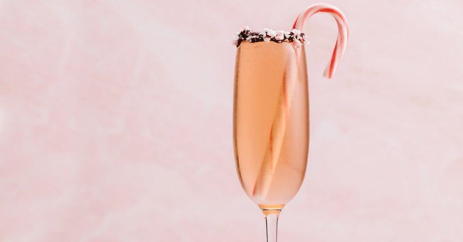 Candy Cane Mimosa Cocktail Recipe - Liquor.com