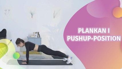 """Plankan i pushup-position"""" - Steg för Hälsa"""
