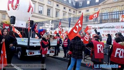 Manifestation du 5 décembre au Puy-en-Velay