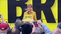 Nicola Sturgeon unveils the SNP's 2019 battle bus