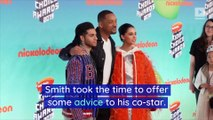 Will Smith Gives Advice to Mena Massoud