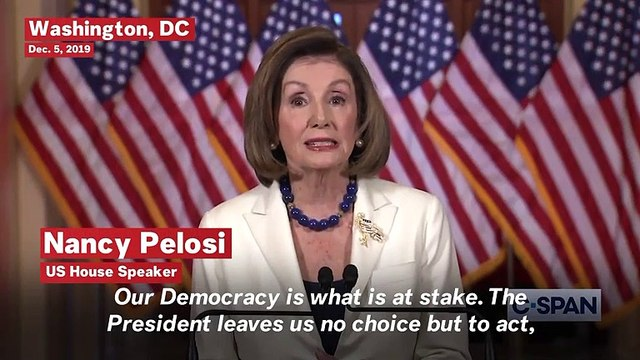 Nancy Pelosi Calls To Proceed With Articles Of Impeachment: 'No Choice But To Act'