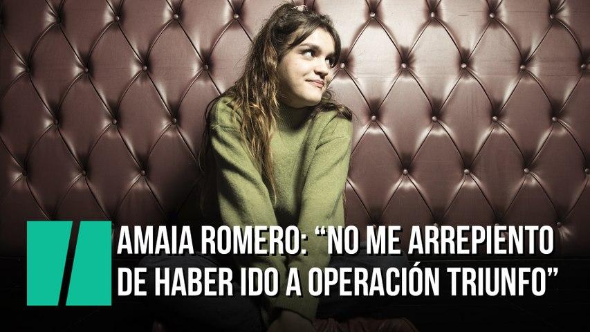 """Amaia Romero: """"Yo nunca me he arrepentido de haber ido a Operación Triunfo"""""""