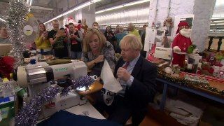 Prime Minister Boris Johnson visits factory workers