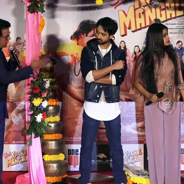 Bhojpuri Actor Ravi Kishan Masti WIth His Daughter Reva Kishan AT Sab Kushal Mangal Trailer Launch