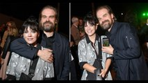 Lily Allen and David Harbour are one cosy couple as Stranger Things star hugs singer