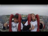 Little Boy Cries While Sitting On Slingshot Ride With Sister