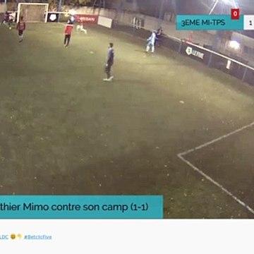 But de  Gauthier Mimo contre son camp (1-1)