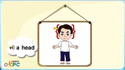สื่อการเรียนการสอน คำศัพท์ภาษาอังกฤษ   อวัยวะ ส่วนต่างๆ ของร่างกายป.2ภาษาอังกฤษ